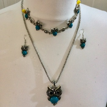 Owls - Fundraising Project - Fashion Jewellery Set - With Bracelet -
