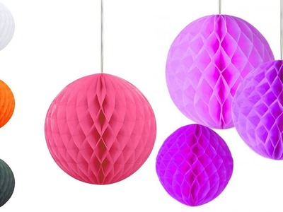 Honeycomb Ball Decoration   How to make a Paper honeycomb Ball   Decoration   Paper Craft