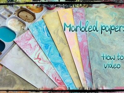 How I make marbled papers with water and acrylic paints - How to video