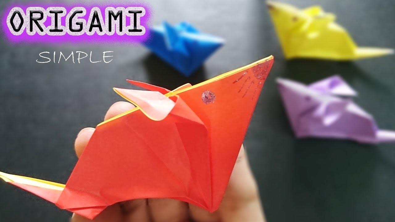 How to Fold the MOUSE just Beautiful and Fast - Easy to make Origami – Paper Magic Top