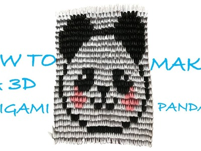 How to make a 3D ORIGAMI PANDA