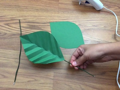 How to make a giant flower stem (English.Spanish)