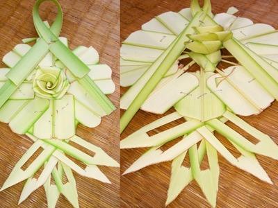 How to make a palm Badge(coconut tree leaf)