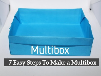 How To Make a Paper Box | Multibox | Origami Paper Box