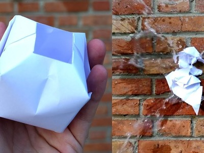 How to make a Paper Water Bomb