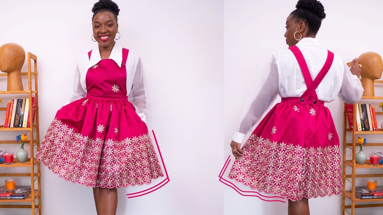 HOW TO MAKE A PINAFORE DRESS  [PATTERN & SEWING TUTORIALS] | KIM DAVE
