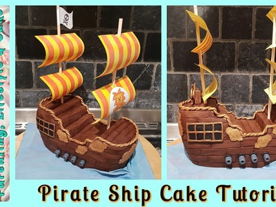 How To Make A Pirate Ship Cake. Sculpting A Boat Cake From Scratch
