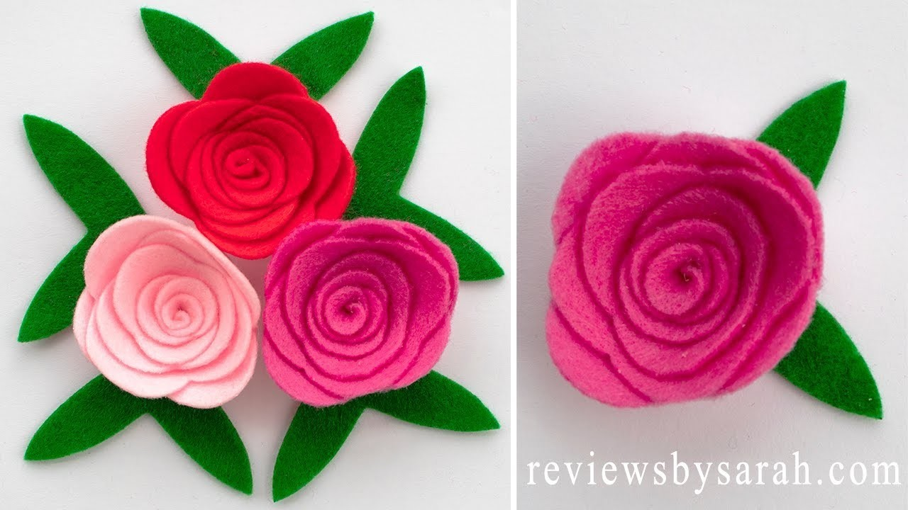How to Make a Rose Flower from Felt - Rolled Flowers