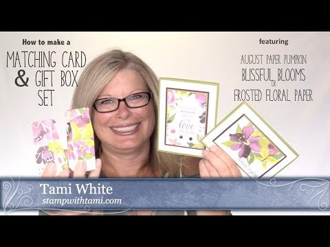 How to make a set of Matching Cards & Treat Boxes with the Stampin Up August Paper Pumpkin Kit