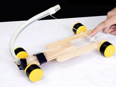 How to make a simple car with hot glue sticks