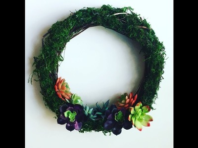 How to make a succulent wreath with all Dollar Tree Supplies