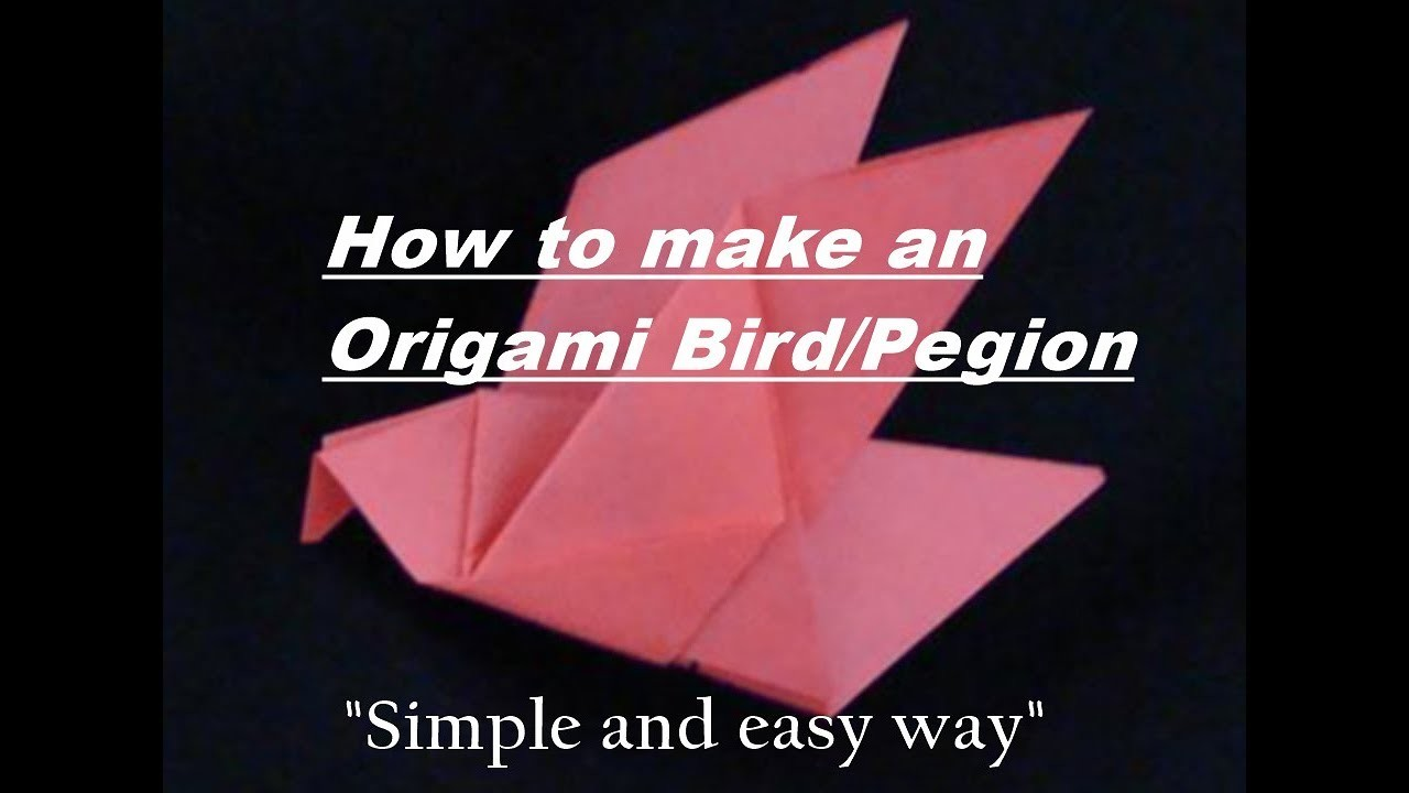 Bird How To Make An Origami Or Paper Parrot Origamiorigami Macaw Parrotorigami Diagram