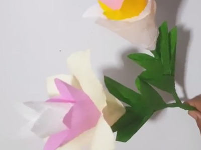 How to make Beautiful Flower diy paper Easy to do flower paer so Cute