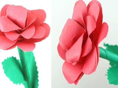 How to Make Beautiful Rose Flower with Paper | Making Paper Flowers Step by Step With Paper