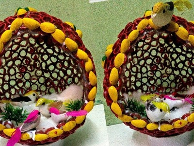 How to make Bird Nest.  Kuruvi Koodu.Wedding Gift for Showpiece. Mithu Fashions