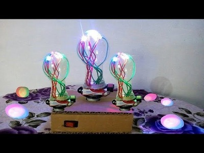 How to make colourful bulb light with l.e.d easy and simple.