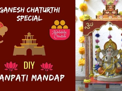 How to make DIY Ganpati Mandap at home | Newspaper Ganpati Makhar | Ganesh Chaturthi Celebrations