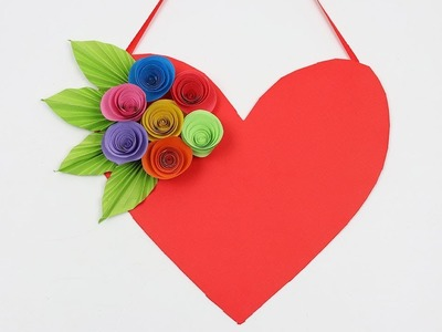 How to Make DIY Paper Heart Wall Hangings Wall Decoration Ideas for Valentines Day Love Paper Craft