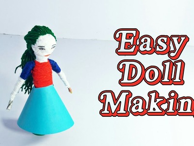 How To Make Easy Doll From Wool | Doll Making Tutorial | Woolen Crafts Doll | Basic Craft