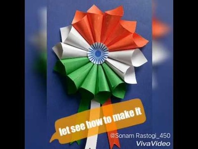 How to make flag batch for 15 august or 26 january