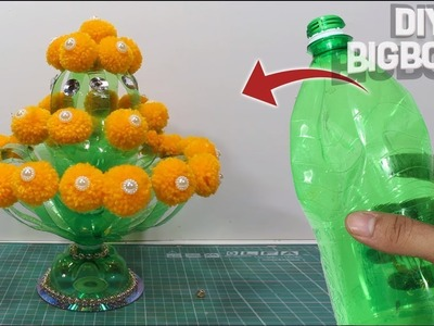 How to make flower pot using plastic bottle || DBB