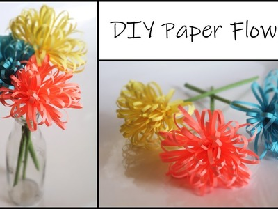 How to make Fluffy Paper Flower | Paper Crafts EASY | DIY Home Decor Ideas