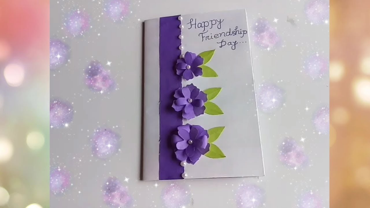 How to make friendship day special card.DIY Friendship Day Card.