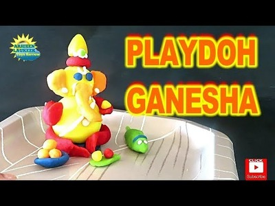 How to make Ganesh Baby Ganesha with Play Doh | How to make Ganesh Idol Play dough Model