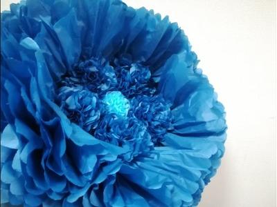 How To Make Giant Tissue Paper Flower. Tissue paper flower- super easy method