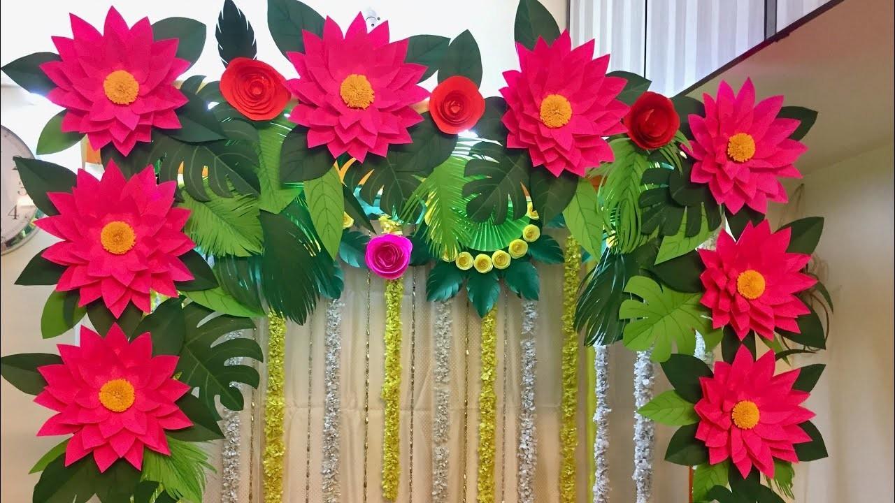 How To Make Home Ganpati Decoration At