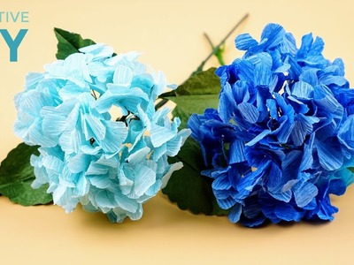 How To Make Hydrangea Flower Paper Easy Step By Step | Creative DIY