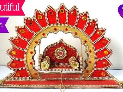 How to make Jhula for bal gopal at home    kanha ji.Krishna   Diy Ideas   Best out of waste Handmade