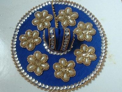 How to make laddu gopal Poshak.Dress||Heavy work dress for laddu gopal.Kanha.Bal gopal.Krishna