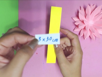 How to Make Lotus.Water Lily Flower  with Paper | Making Paper Flowers | DIY-Paper Crafts
