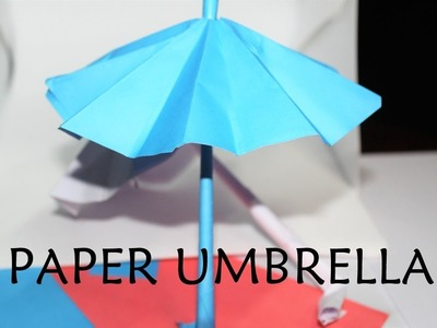 How To Make Origami Umbrella That Open And Closes  | Easy Step by Step For Kids