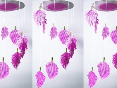 How To Make Paper Feather Wind Chime || DIY Paper Feather Wind Chimes || কাগজ দিয়ে ডোরবেল তৈরি