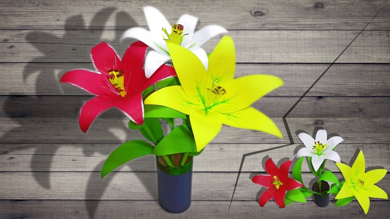 How to Make Paper Flower Easily at Home   linascraftclub