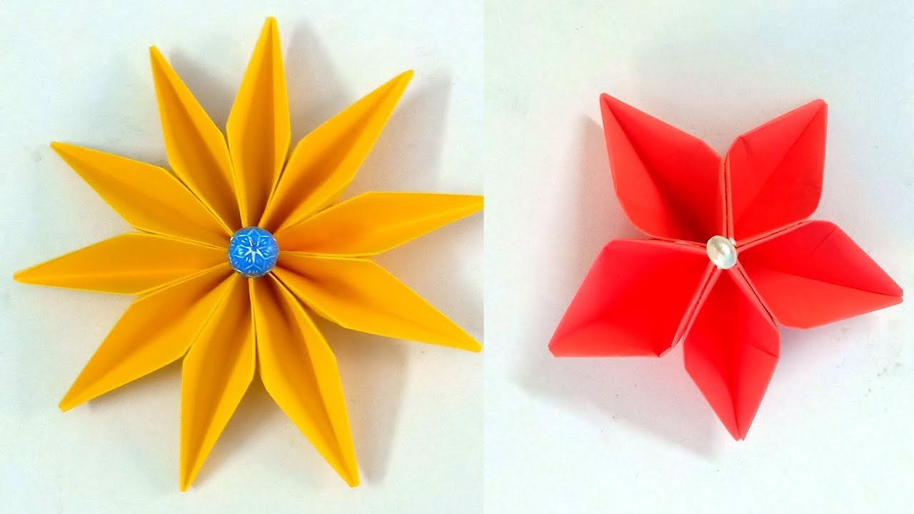 How To Make Paper Flowers Easy Step By Step Tutoral