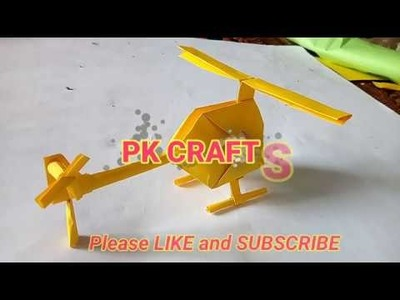 How to make paper helicopter | make beautiful paper helicopter | DIY helicopter