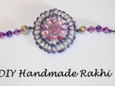 How To Make Rakhi at Home | DIY Rakhi Design using Cotton Buds