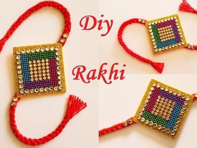 How To Make Rakhi At Home    Handmade Rakhi # 2    DIY Rakhi Making Ideas