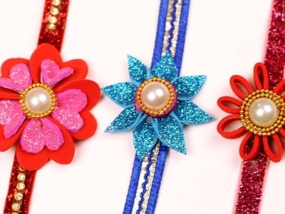 How to Make Rakhi for Raksha Bandhan Festival at Home - Handmade 3 Easy Rakhi Designs - DIY Rakhi