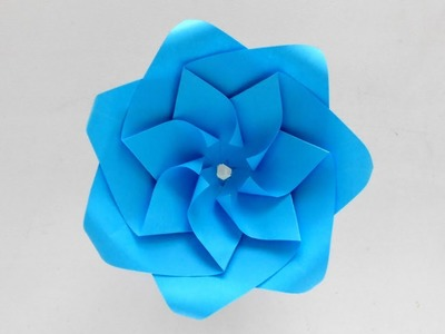 How to make realistic and easy paper roses ???? Beautiful Origami Flower