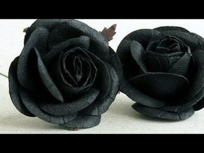 HOW TO MAKE ROSE BY THE HELP OF PAPER