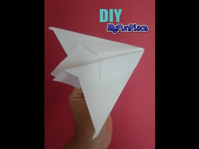 How To Make Silent Thunder Paper Airplane - Easy
