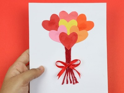 How to Make Simple & Easy Valentine Greeting Card for Valentines Day - DIY Handmade at Home