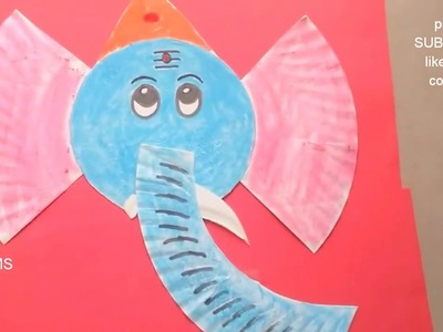 How to make simple Ganesh masks at home ,2 DIY easy ideas for Ganesh chaturthi, handmade projects l