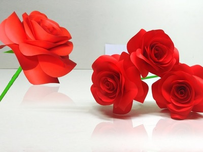 How to Make Small Rose Flower | Rose Paper Flowers | linascraftclub
