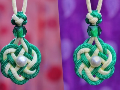How To Make the Double Celtic knot paracord. Unique and easiest Macrame necklace tutorial