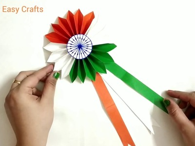 Independence Day Badge DIY | How to make Tricolour Badge | JAAS Easy Crafts